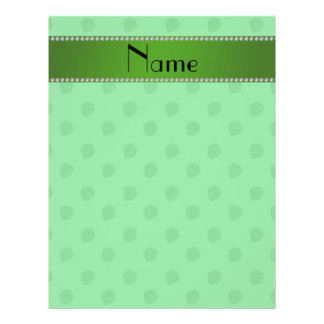 Personalized name green strawberries custom flyer