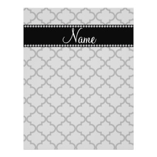 Personalized name Grey moroccan Flyer