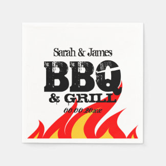 Personalized name napkins for BBQ wedding party Paper Napkin