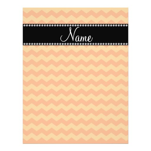 Personalized name orange chevrons flyer design