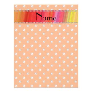 Personalized name orange diamonds custom flyer