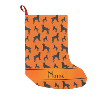 Personalized name orange field spaniel dogs small christmas stocking