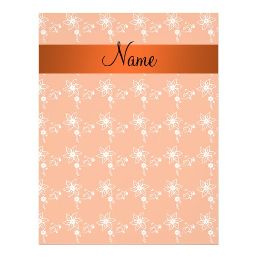 Personalized name orange flowers flyers