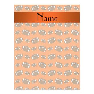 Personalized name orange footballs personalized flyer