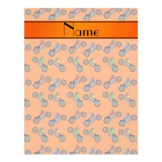 Personalized name orange motorcycles 21.5 cm x 28 cm flyer