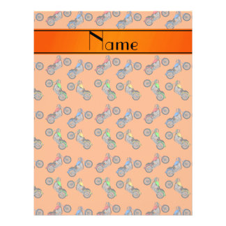 Personalized name orange motorcycles full color flyer