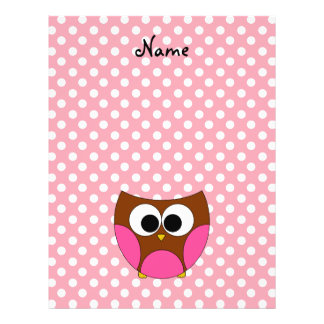 Personalized name owl flyers