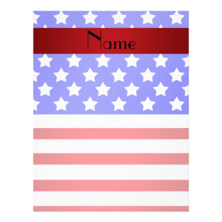 Personalized name patriotic stripes personalized flyer