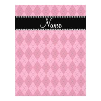 Personalized name Pink argyle Custom Flyer