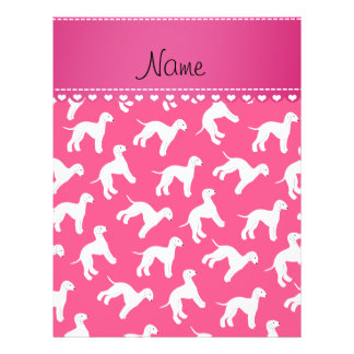 Personalized name pink bedlington terrier dogs 21.5 cm x 28 cm flyer