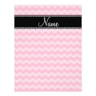 Personalized name pink chevrons flyer design