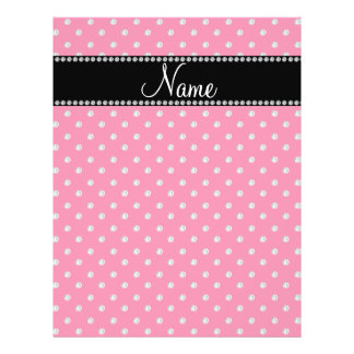 Personalized name pink diamonds flyer design