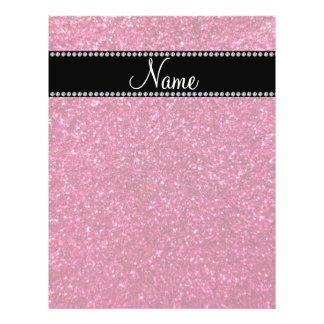 Personalized name pink glitter flyers