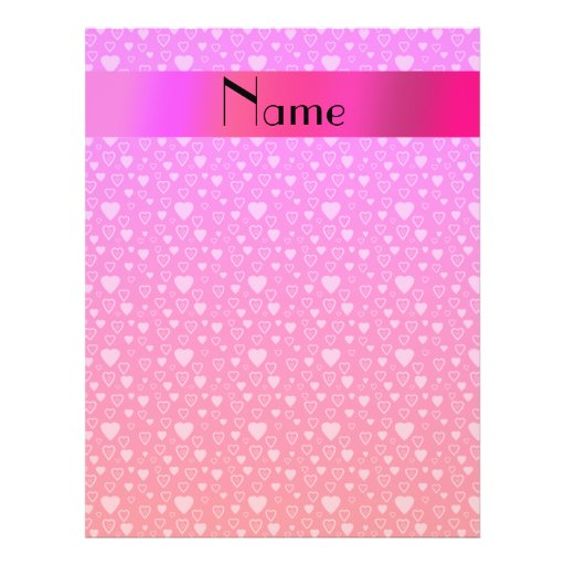 Personalized name pink hearts custom flyer