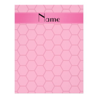 Personalized name pink honeycomb full color flyer