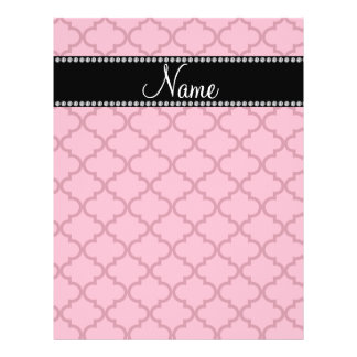 Personalized name Pink moroccan Flyer