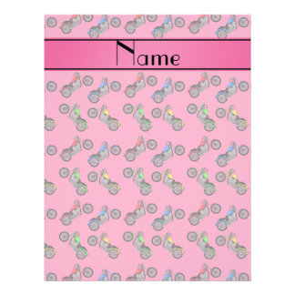 Personalized name pink motorcycles 21.5 cm x 28 cm flyer