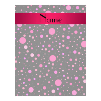 Personalized name pink polka dots 21.5 cm x 28 cm flyer