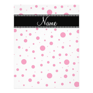 Personalized name pink polka dots personalized flyer