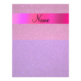 Personalized name pink purple glitter full color flyer
