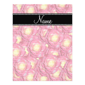 Personalized name Pink roses Flyer Design