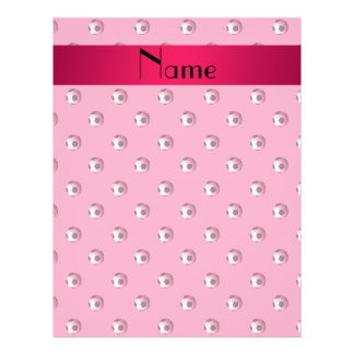 Personalized name pink soccer balls personalized flyer