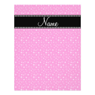 Personalized name pink stars flyers