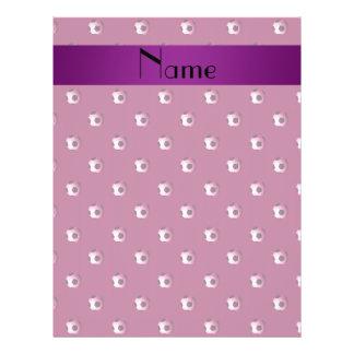 Personalized name plum purple soccer balls custom flyer
