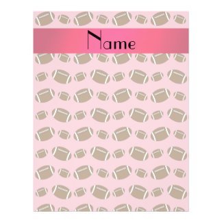 Personalized name pretty pink footballs flyer design
