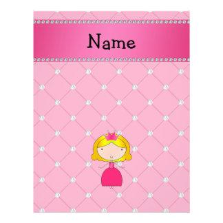 Personalized name princess pink diamonds 21.5 cm x 28 cm flyer