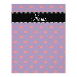 Personalized name purple cherry pattern personalized flyer