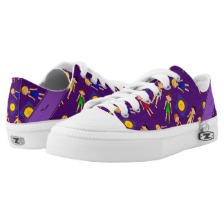 Personalized name purple cute boy wrestlers mat low tops