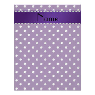 Personalized name purple diamonds flyer design