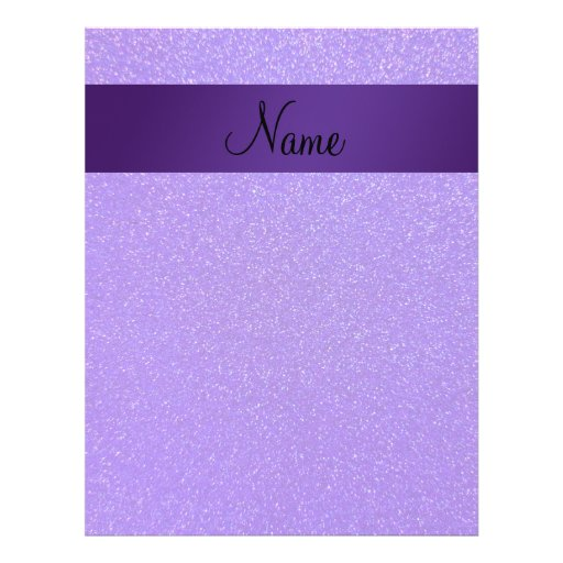 Personalized name purple glitter flyers