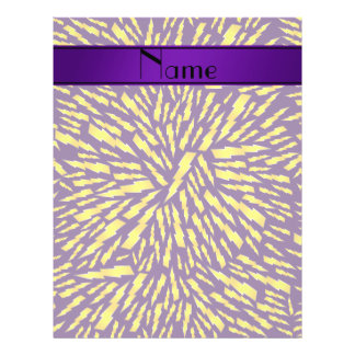 Personalized name purple lightning bolts full color flyer