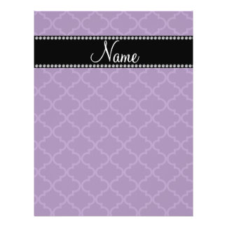 Personalized name Purple moroccan Flyers