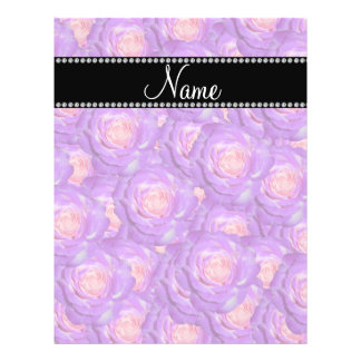 Personalized name purple roses flyer design