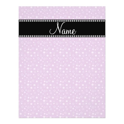 Personalized name Purple stars Flyer