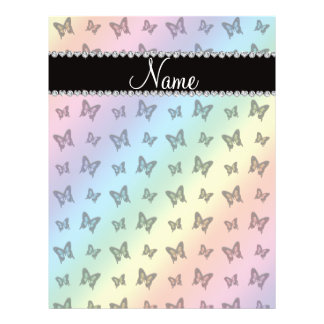 Personalized name rainbow butterfly pattern flyer
