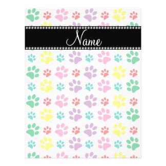 Personalized name rainbow dog paws 21.5 cm x 28 cm flyer