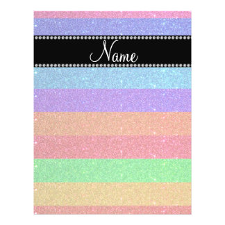 Personalized name rainbow glitter flyer design