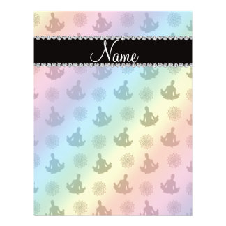 Personalized name rainbow yoga pattern personalized flyer