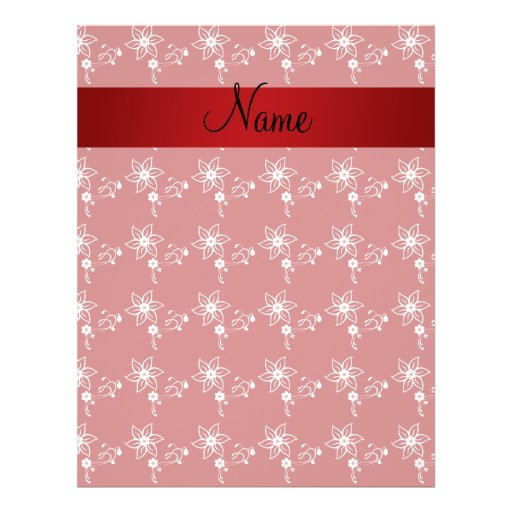 Personalized name red flowers full color flyer