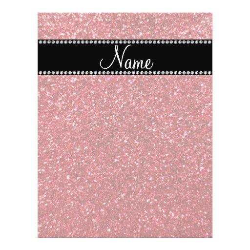 Personalized name red glitter flyers