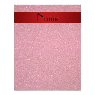 Personalized name red glitter custom flyer