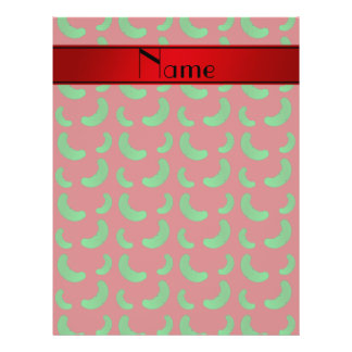 Personalized name red green pickles custom flyer