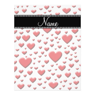 Personalized name red hearts 21.5 cm x 28 cm flyer
