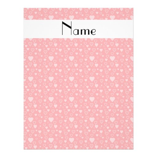 Personalized name red hearts custom flyer