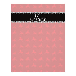Personalized name red horse pattern full color flyer