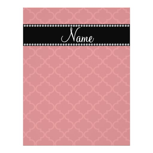 Personalized name Red moroccan Full Color Flyer